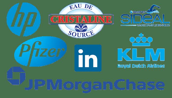 Logos de couleur bleu