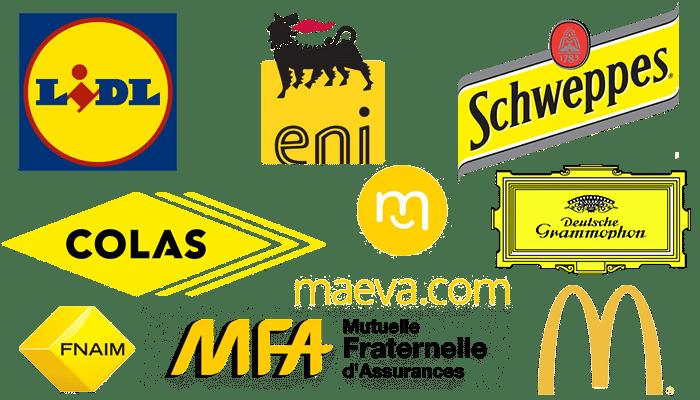 Logos de couleur jaune