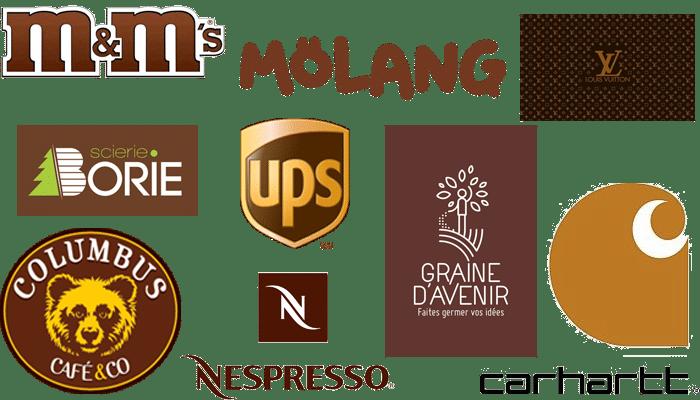 Logos de couleur marron