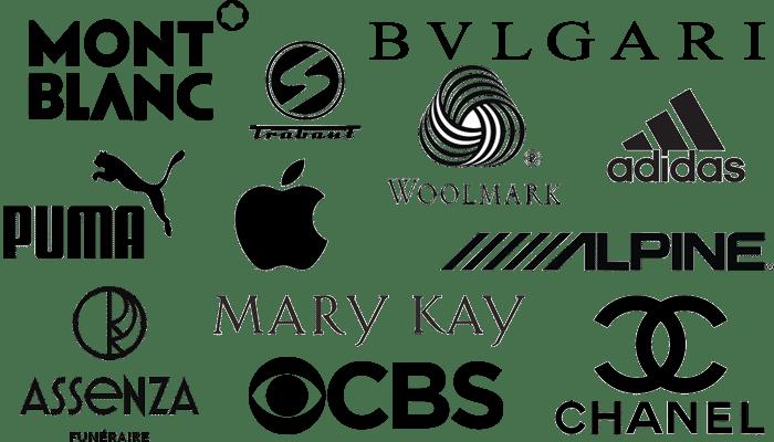 Logos de couleur noir