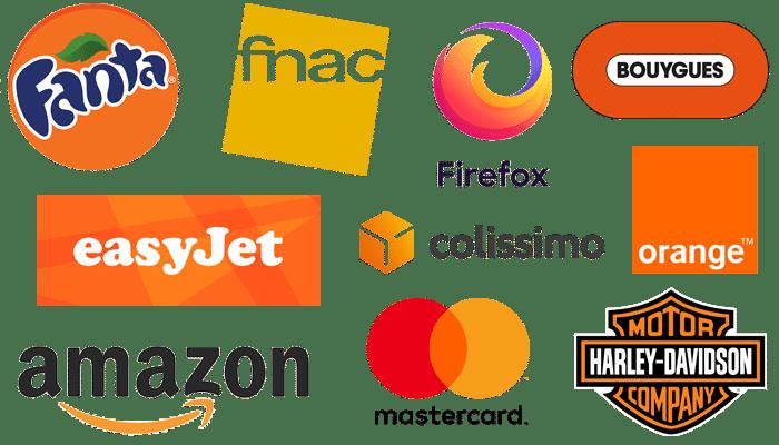 Logos de couleur orange