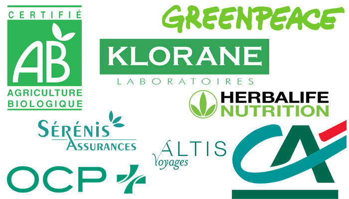 Logo de couleur vert